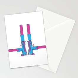 Mondo Mando - Mac-10 Print Stationery Cards