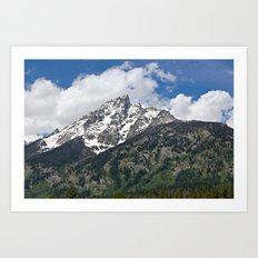 Grand Tetons Peak and Clouds Art Print