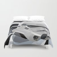storm Duvet Covers featuring Stormtrooper by Liam Brazier