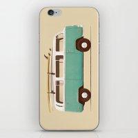 van iPhone & iPod Skins featuring Blue Van by Florent Bodart / Speakerine