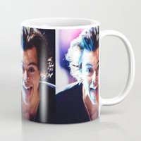 harry styles Mugs featuring Harry Styles by harrystyless