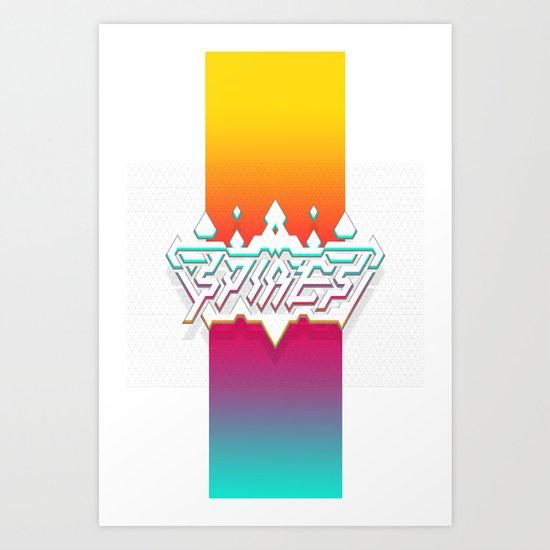 Spires : Crystyl Cystlys Spectrym  Art Print