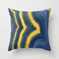 agate Throw Pillows featuring agate by The Pretty Shop NYC