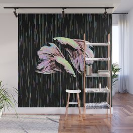 Pastel Siamese Fighting Fish In Electro Synchronicity Wall Mural