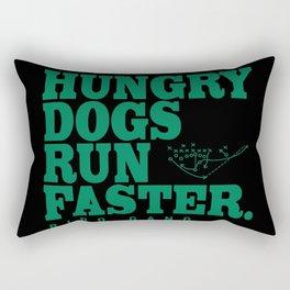 Hungry Dogs Run Faster Bird Gang Rectangular Pillow
