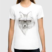 fox T-shirts featuring Fox Specs by Phil Jones