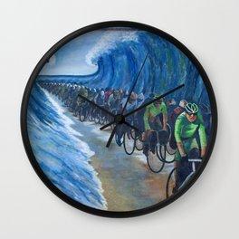 Biking Through the Red Sea Wall Clock