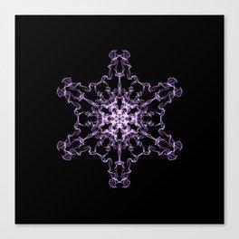 Purple Silk Snowflake Canvas Print