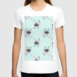 Soft turquoise mint Frenchies T-shirt