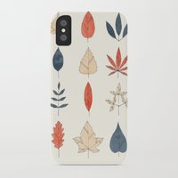 leaves iPhone & iPod Cases featuring Leaves by Tracie Andrews