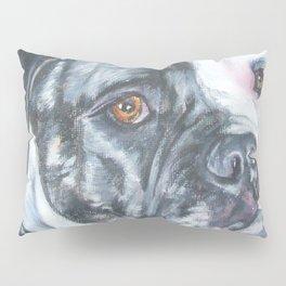 American Bulldog dog portrait Fine Art Dog Painting by L.A.Shepard Pillow Sham