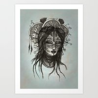 witch Art Prints featuring witch by ASTRA ZERO