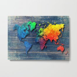 World map special 8 Metal Print