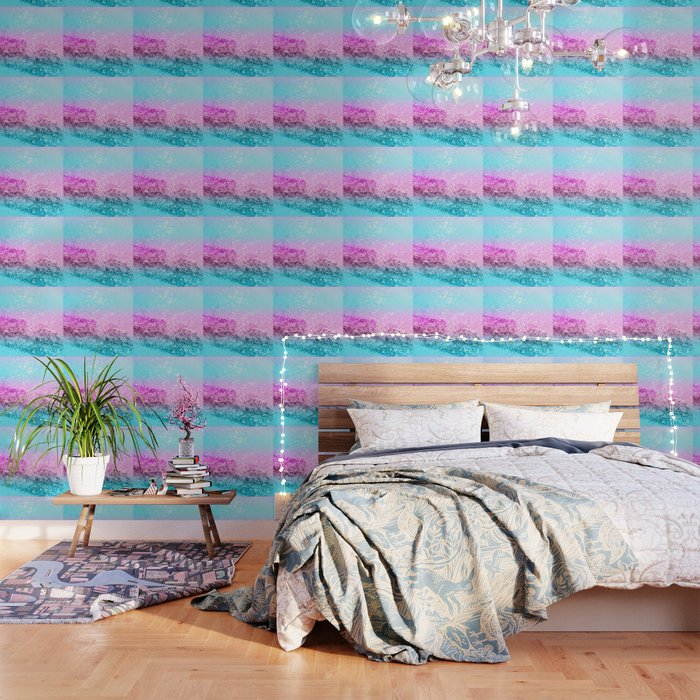 Unicorn Girls Glitter 16 Shiny Decor Art Society6 Wallpaper By