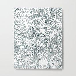 Graphics Metal Print