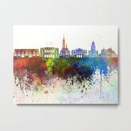 Gothenburg skyline in watercolor background Metal Print