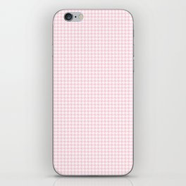 Soft Pastel Pink and White Hounds Tooth Check iPhone Skin