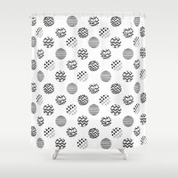 polka dot Shower Curtains featuring Polka Dot by AndaLouz