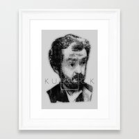 kubrick Framed Art Prints featuring kubrick by Levvvel