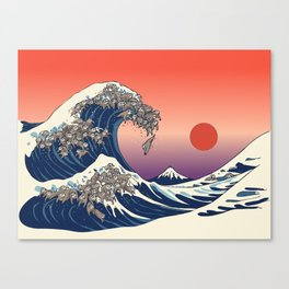 The Great Wave of Sloth Canvas Print