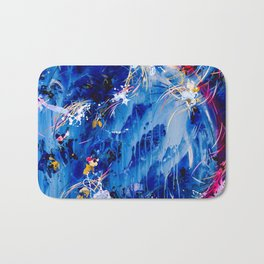 As The Universe Falls Together Bath Mat