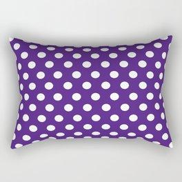 Purple Dot Pattern Rectangular Pillow