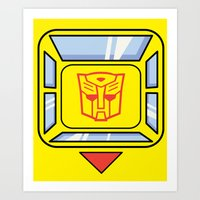 transformers Art Prints featuring Transformers - Bumblebee by CaptainLaserBeam