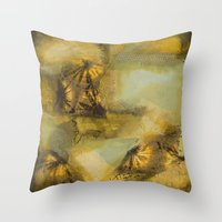 hippy Throw Pillows featuring Hippy Hippy Shake by Debras Originals