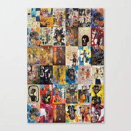 Basquiat Montage Canvas Print