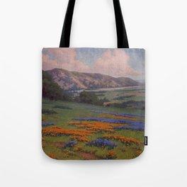 Poppies & Lupine Near Santa Paula, California by John Marshall Gamble Tote Bag