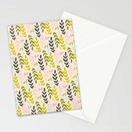 Leave playful pattern Stationery Cards