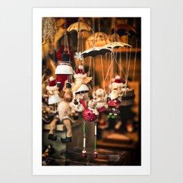 Christmas market, Lille Art Print