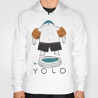 yolo Hoodies featuring yolo by Louis Roskosch