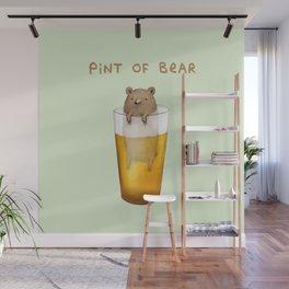 Pint of Bear Wall Mural