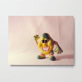 Creepy California Lemon Man Metal Print