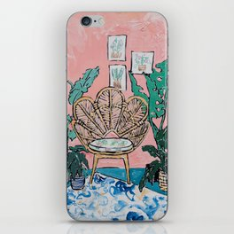 Wicker Shell Chair in Tropical Interior iPhone Skin