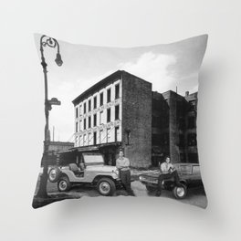 Hale's Garage Throw Pillow