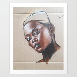 Nyakim Gatwech Art Print