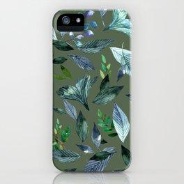 Watercolor fallen leaves 18 iPhone Case