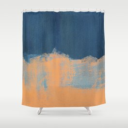 Summer Beach Abstract Orange Blue #painting #decor #society6 Shower Curtain