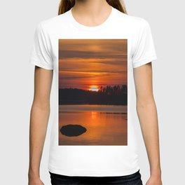 Beautiful Sunset with Strong Orange Color #decor #society6 #buyart T-shirt