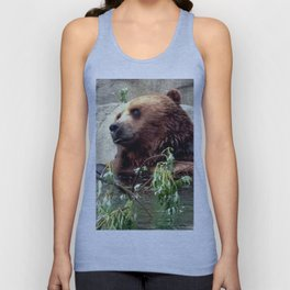 Contented Bear Unisex Tank Top
