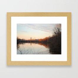 Anacostia sunset Framed Art Print