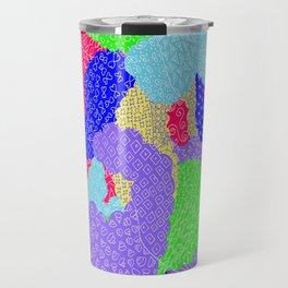 Multicolor Paisleys  Travel Mug