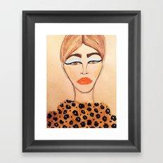 Leopard Coat Framed Art Print