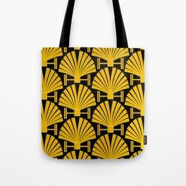 Art Deco Gold Palm Fan Pattern Tote Bag