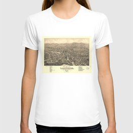 Vintage Pictorial Map of Laconia NH (1883) T-shirt