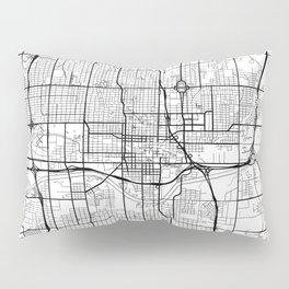 Oklahoma City Map White Pillow Sham