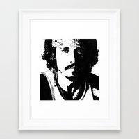 johnny depp Framed Art Prints featuring Johnny Depp by Jeanique van den Berg