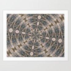 Flowing Waters Kaleidoscope Art Print